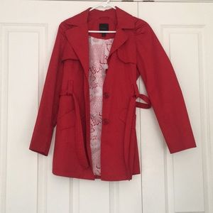 Express Red trench coat